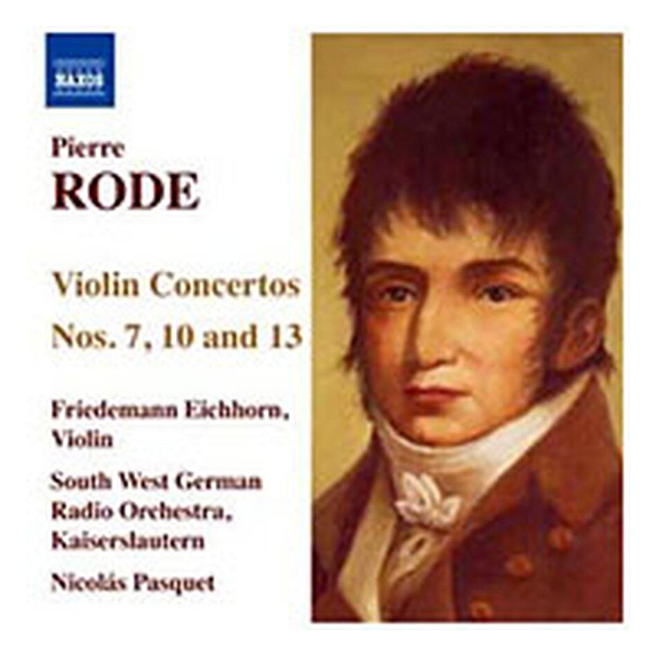 Cover for Pierre Rode: Violin Concertos, Nos. 7, 10 & 13