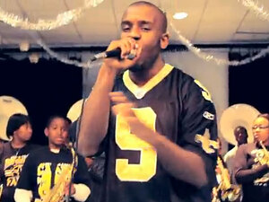 Still from K. Gates Black and Gold video