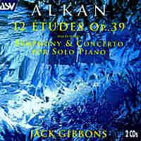 Cover for Alkan: 12 Études, Op. 39