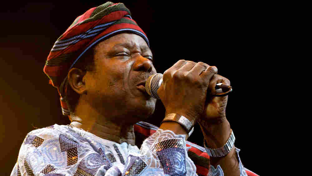 King Sunny Ade performs at the Prospect Bandshell for Celebrate Brooklyn's Africa Day.