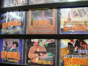 Narcocorridos CDs; credit: Peter Breslow