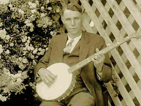 Charlie Poole at his home in Spray, North Carolina, in 1925.; courtesy of 2nd Story Sound