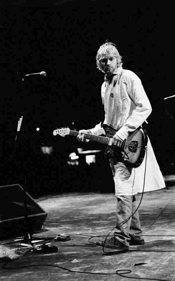 Kurt Cobain performing at the Reading Festival in 1992