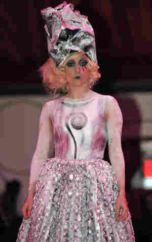 Lady Gaga performing in November