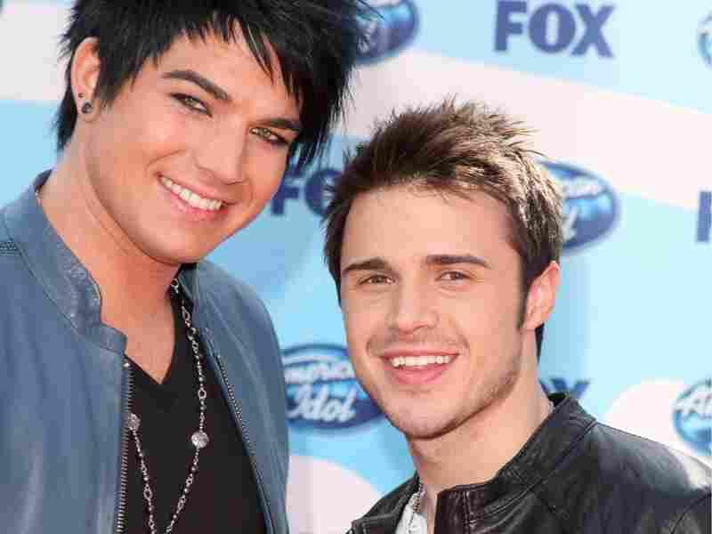 Adam Lambert and Kris Allen; credit: Jason Merritt/Getty Images