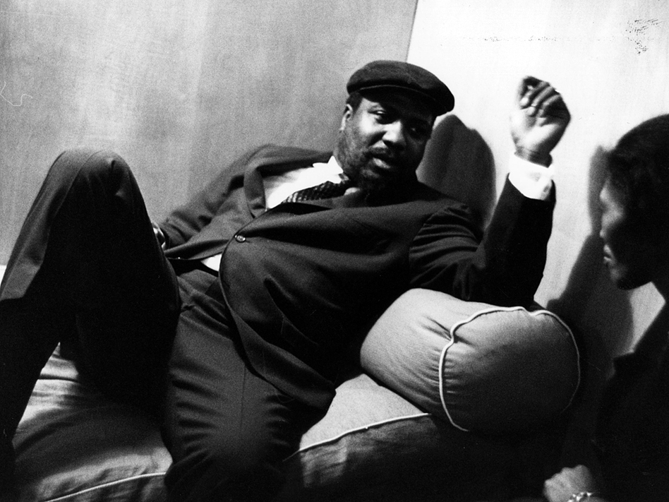 Thelonious Monk relaxes with his wife, Nellie, before performing at the Royal Festival Hall in London on April 29, 1961. (Getty Images)