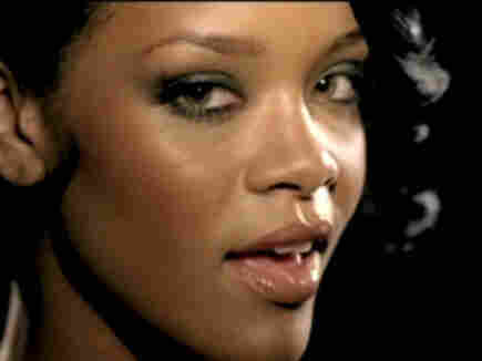 Rihanna in the video for Umbrella; courtesy of Def Jam