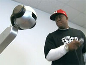 Shimon playing with Atlanta hip-hop artist Lotto; courtesy of Georgia Tech Music Technology Center