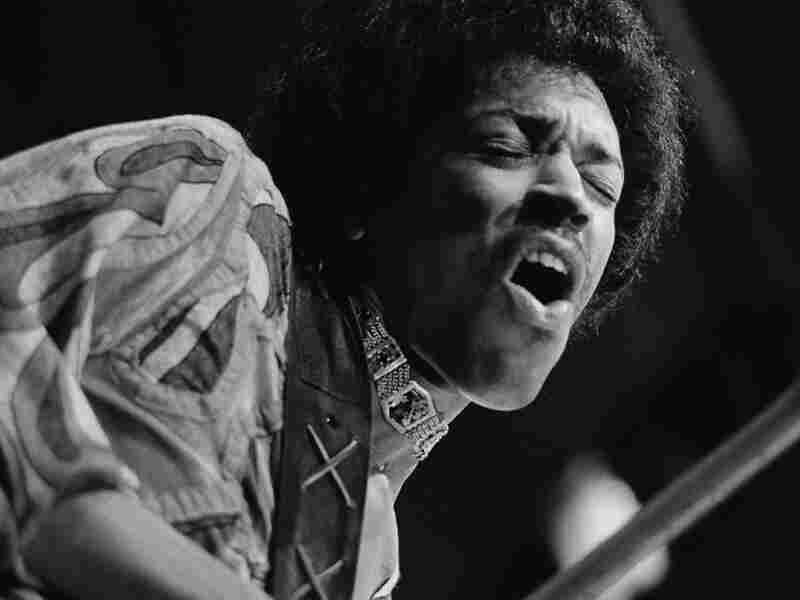 Jimi Hendrix; credit: Evening Standard/Hulton Archive