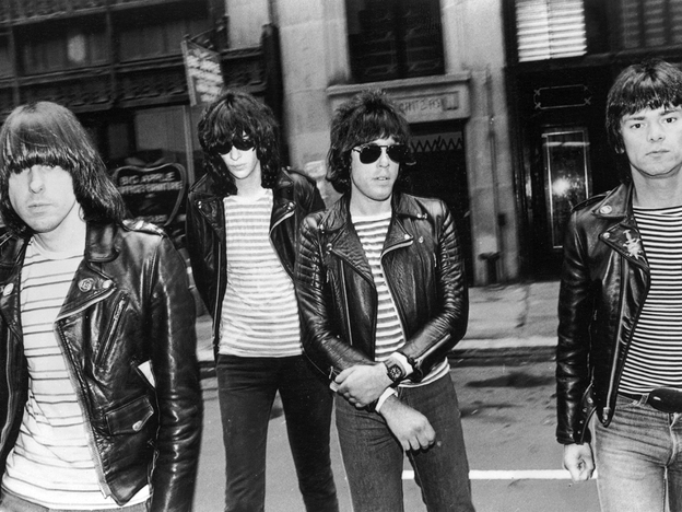 The Ramones in a 1981 promotional photograph. Joey Ramone is second from left.
