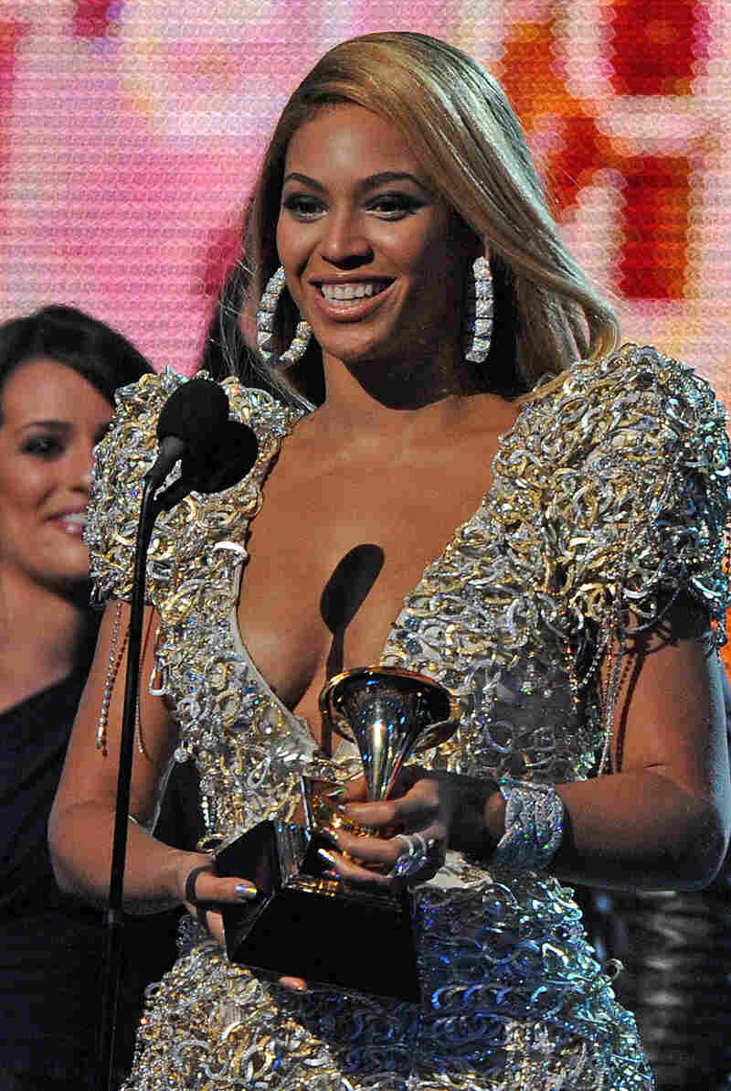 Beyonce accepts the award for the Best Female Pop Vocal Performance