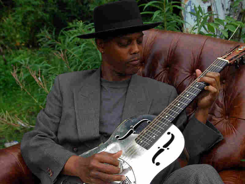 Eric Bibb plays Booker White's famous steel body guitar.