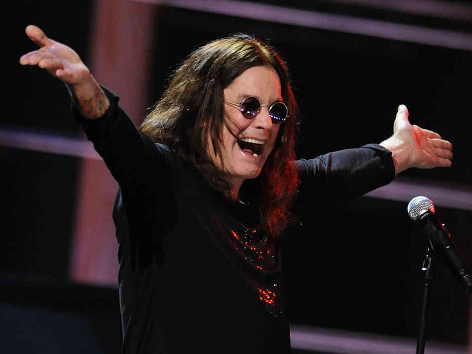 Ozzy Osbourne performing at the 25th Anniversary Rock & Roll Hall of Fame Concert.
