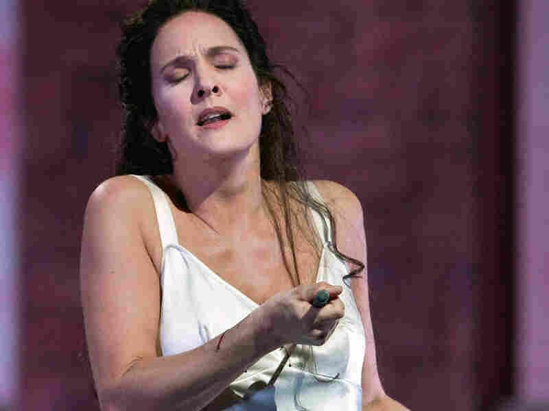 Marlis Petersen as Ophelia in 'Hamlet'