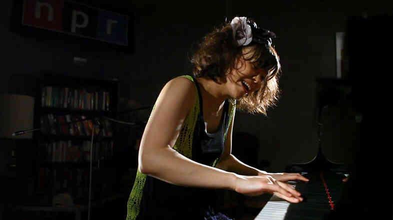 Hiromi performing at NPR