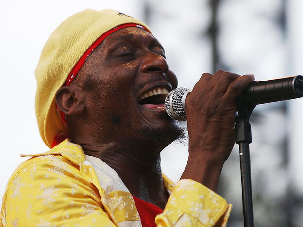 Jimmy Cliff performs in 2003 in Nice, France.