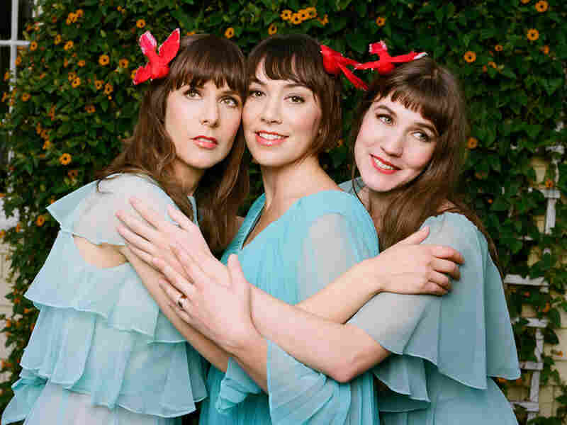 The Living Sisters, left to right: Eleni Mandell, Inara George and Becky Stark