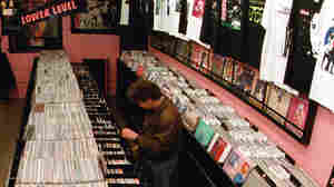 Interior of Indie Record Store