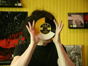 Jack White in the Third Man Records store