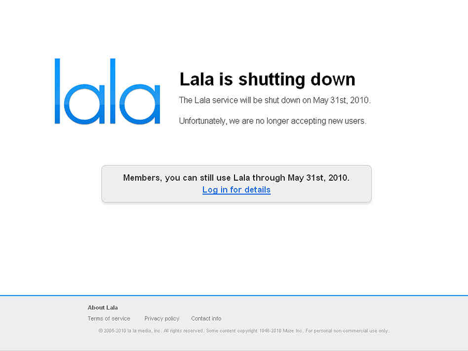 Lala website