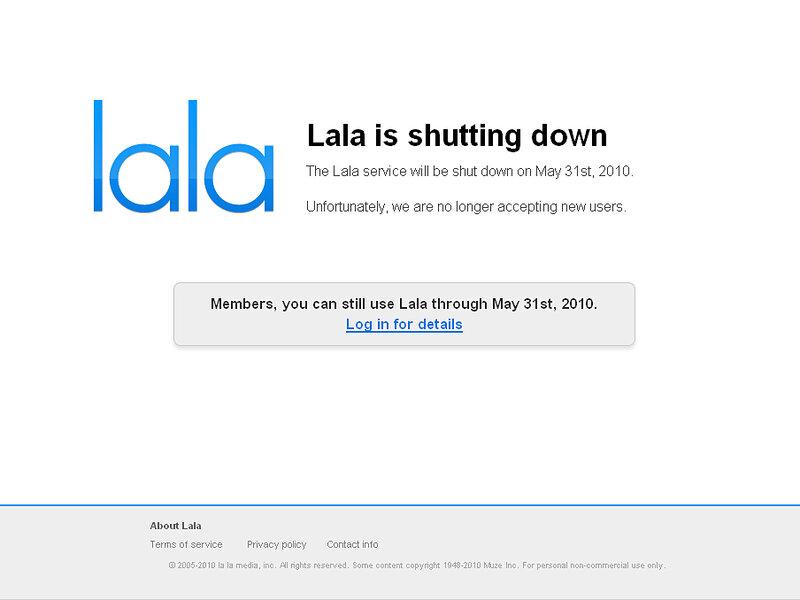 Lala Shutdown To Silence Music Websites : NPR