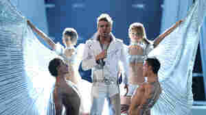 Miro, from Bulgaria, in rehearsal for Eurovision