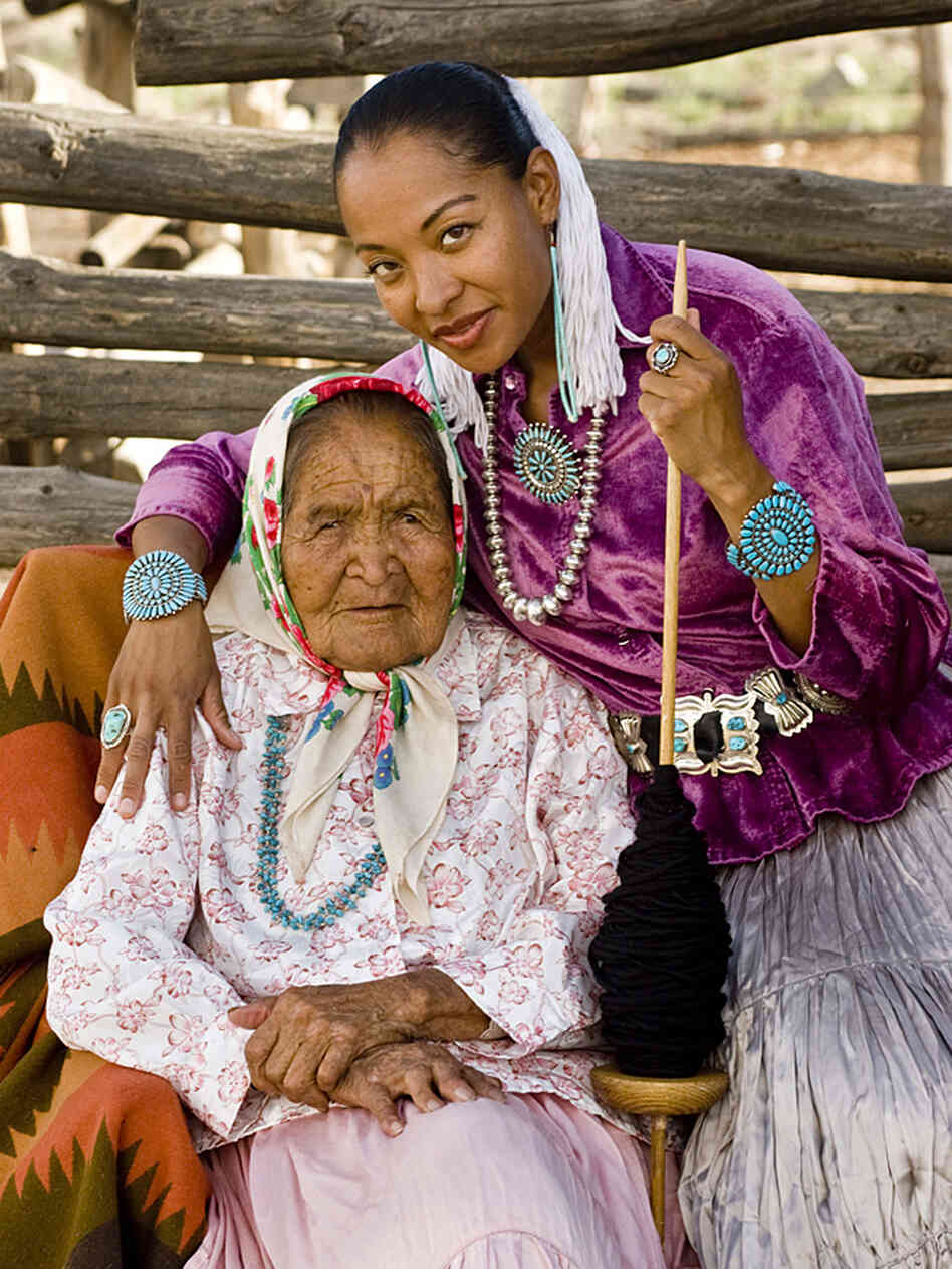 Radmilla Cody and her grandmother