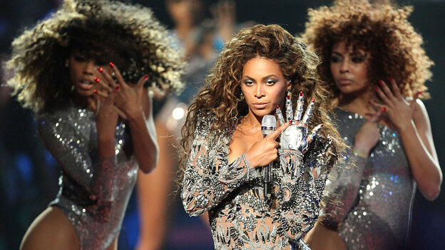 Beyonce onstage ; credit: Christopher Polk / Getty Images