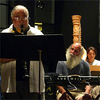 J.D. Parran (clarinet) and Earl Howard (electronics) rehearse with American Composers Orchestra.