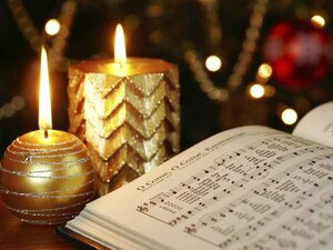 Candles and music