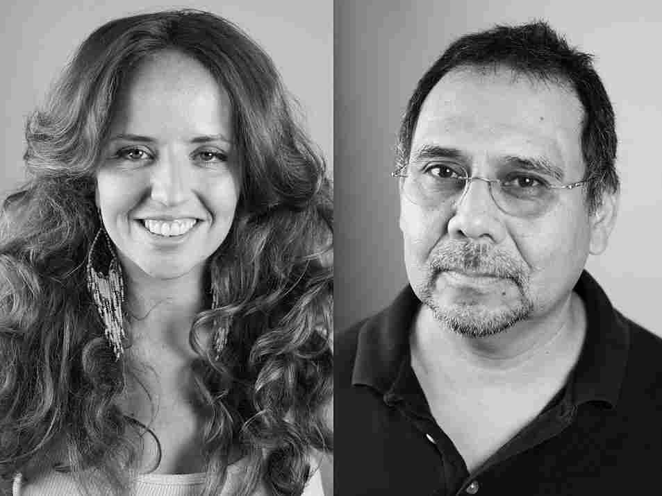 Alt.Latino's Hosts Jasmine Garsd and Felix COntreras; credit: Yanina Manolova / NPR