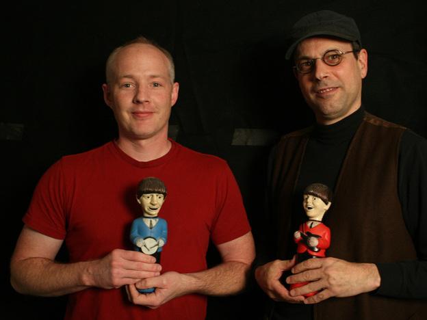All Songs Considered producer Robin Hilton (left) and host/creator Bob Boilen.
