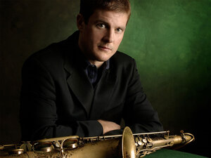 Eric Alexander plays tenor sax in the co-op band One for All.