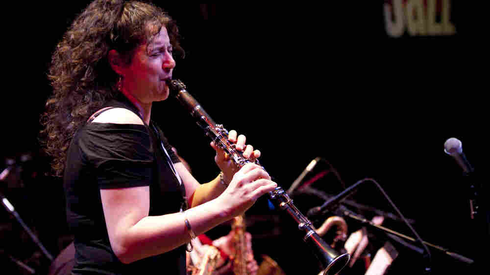 Anat Cohen performs at the Kennedy Center Jazz Club with the Anzic Orchestra.