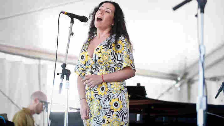 Claudia Acuna performs at Newport Jazz.