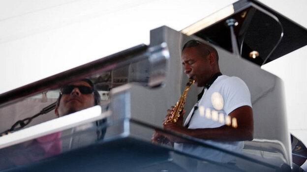 Branford Marsalis and Joey Calderazzo performs at Newport Jazz.