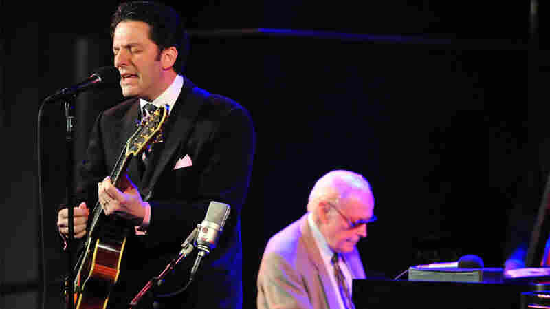 John Pizzarelli performing with John Bunch at Dizzy's Club Coca-Cola.