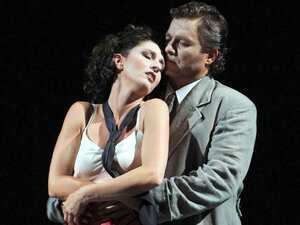 "Stella Doufexis and Marc laho in ""The Tales of Hoffmann:"""