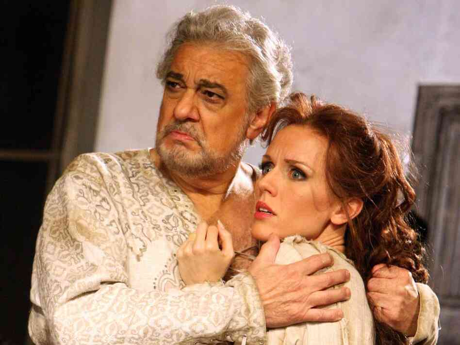 Placido Domingo and Sara Coburn