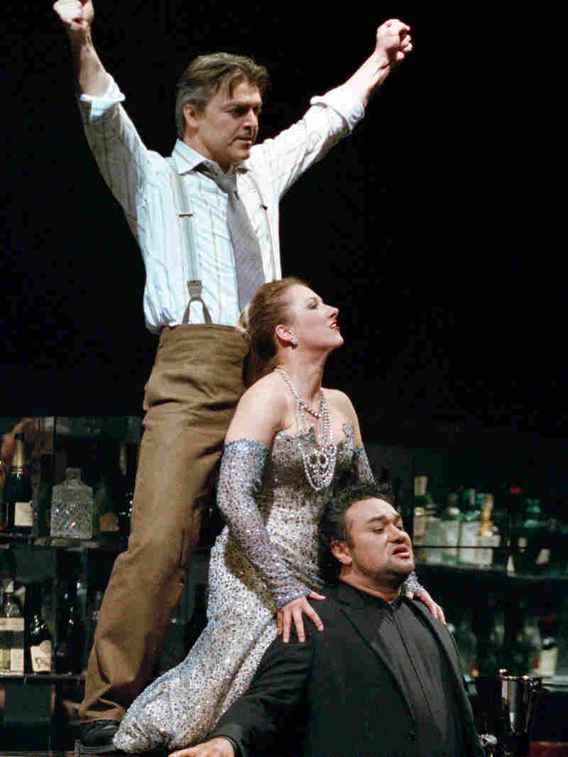 Lescaut, Manon and Des Grieux at the casino