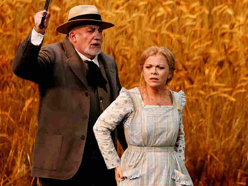 "Baritone Alain Verhnes and soprano Inva Mula in Gounod's ""Mireille."""