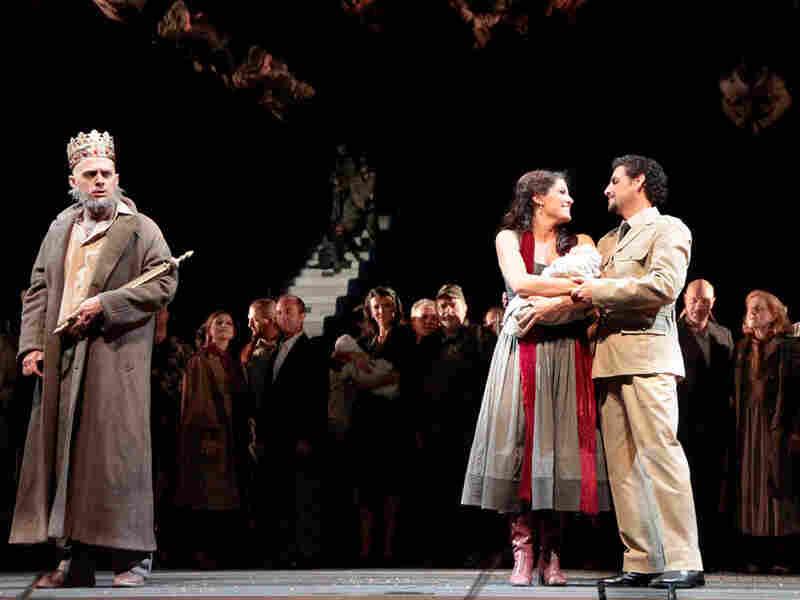 Kate Aldrich, Juan Diego Florez and Alex Esposito in 'Zelmira'