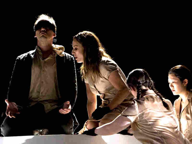 "Stéphane Degout and Nadja Michael in Gluck's ""Iphigenie en Tauride."""