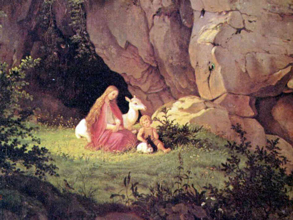"Ludwig Richter's painting, ""Genoveva Alone in the Forest"", from 1841."