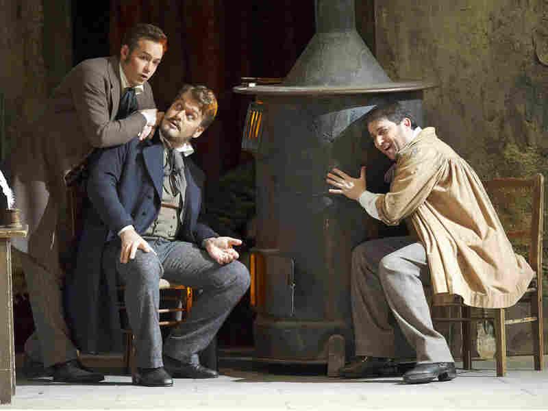 Rodolfo, Marcello, and Colline