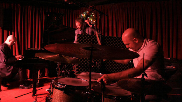 The Bad Plus performing at the Village Vanguard.