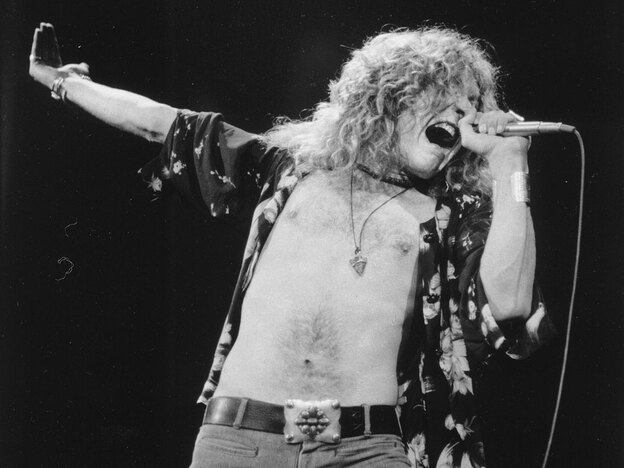 As a boy, Robert Plant marveled at the voices of Smokey Robinson and James Brown on the radio.
