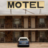 Motel and car