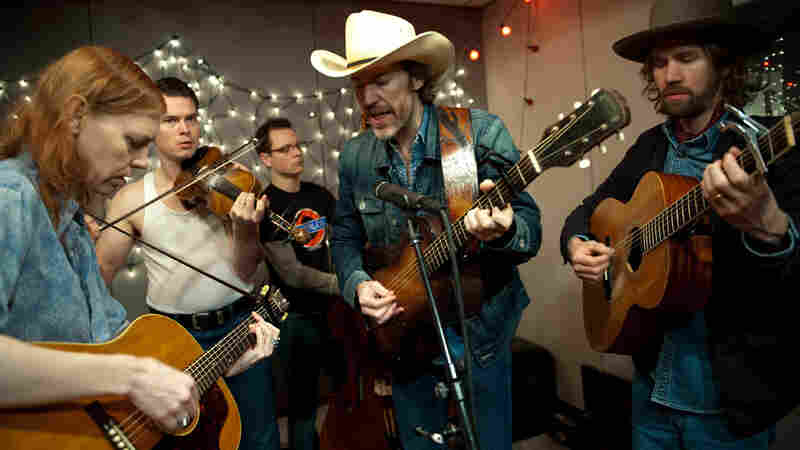 Dave Rawlings Machine performs at KEXP. Credit: Jim Bennett.