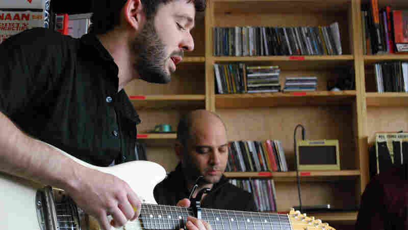 The Antlers performing a Tiny Desk Concert.
